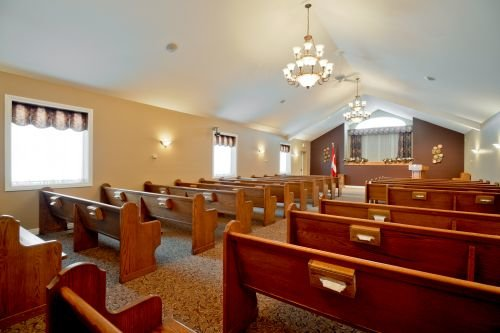 A photo of the chapel at Pilon Family Funeral Home.