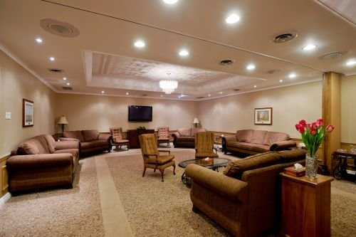 A photo of the visitation room at Pilon Family Funeral Home.