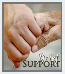 A grief support call to action button.